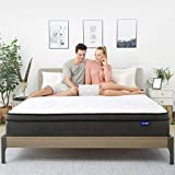 Sweetnight King Mattress- King Size Mattress in a Box,10 Inch Plush Pillow Top Spring Hybrid Mattress,Gel Memory Foam for Sleep Cool, Motion Isolating Individually Wrapped Coils, Twilight