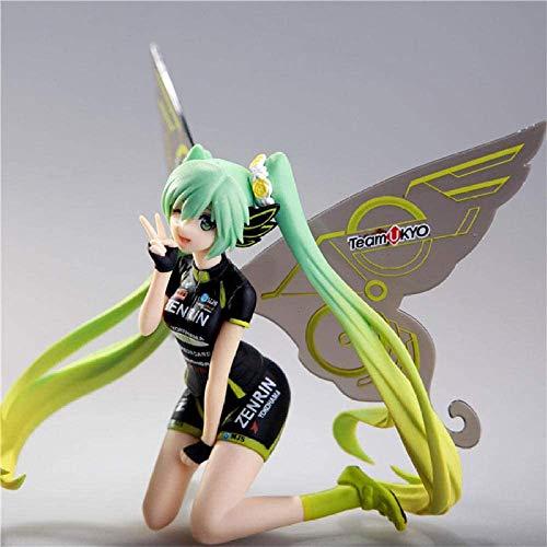 Ymdmds Anime-Skulptur Götze Figuren Racing Tony Schmetterling Hatsune Miku Zukunft Sinn feinen PVC-Modell-Sammlung Geschenk, etwa 14 cm Höhe