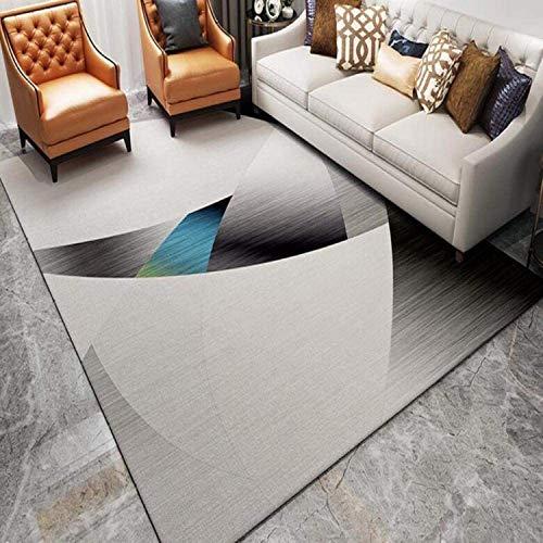QweasDzxNordic Piso impreso Sala de estar Corredor Alfombra grande Alfombra al aire libre Decoración del hogar Aparta antideslizante 160x230cm