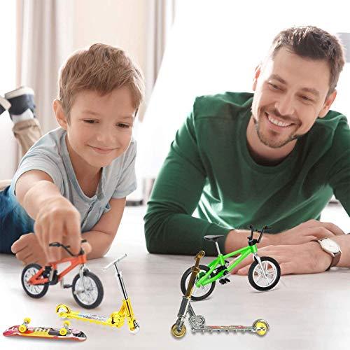 Further Juego de 7 juguetes de dedo mini para dedos, bicicletas de dedo, scooter, tabla de columpio, movimiento de la punta de los dedos, recuerdos de fiesta