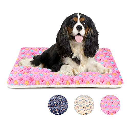Mora Pets Hundedecke Katzendecke Flauschig und Weich Welpendecke 74X54CM Katzenkissen Waschbar Katzenbett Hundebett für Mittel Hunde und Katze Rosa