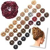 La Viora® Haarteil Haargummi mit Haaren (45g), Hair Extensions Dutt Haarteile für hochsteckfrisuren gewellt, Fruchtig Duftende Dutt Haargummi Haarteil, Dutt Haarteil mit Gummiband,