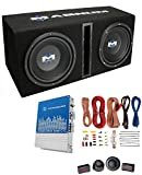 MTX Magnum MB210SP 10' 400W RMS Dual Car Loaded Subwoofer Box with Wiring Kit