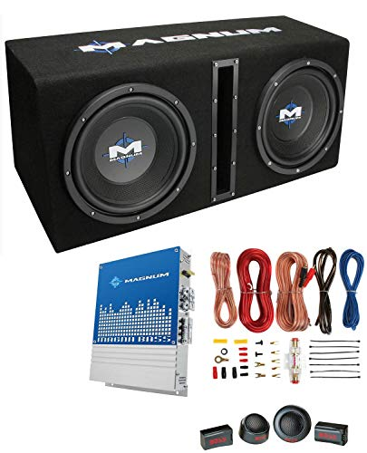 MTX Magnum 10' 400W RMS Dual Car Loaded Subwoofer Sub Woofer+Box+Amp Kit Package