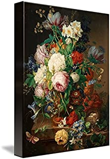 Wall Art Print Entitled Joseph NIGG, Still Life with Roses, Forget-ME-NOT, by Celestial Images   8 x 10