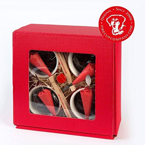 Feuer ZANGEN Tasse - 4er Box - FeuerzangenRum - ZuckerHutSticks (Feuerzange&ZuckerHut in EINEM!)