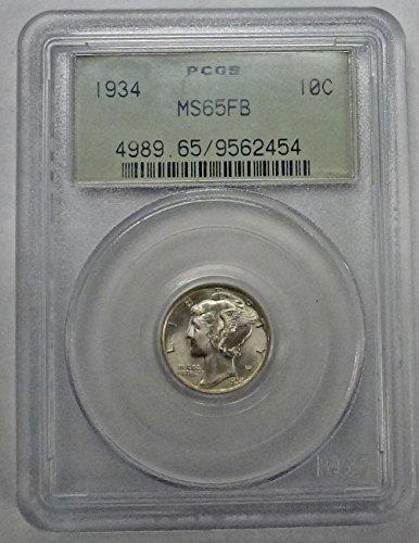 1934 Mercury Dime MS65FB PCGS