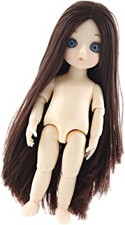 CUTICATE 16cm Height 13 Joints Customized Doll Girl, Boy Body for DIY Ball Jointed Dolls Making Supplies - Girl F