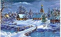 ダイヤモンド塗装冬の風景DIY5Dダイヤモンドモザイク雪手作りクロスステッチキットダイヤモンド塗装キットパターン30x40cm