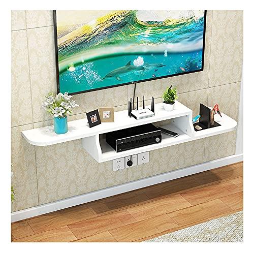 PPOIU Mueble para TV Flotante, Estante Decorativo para Montaje en Pared, Centro de Entretenimiento Multimedia, Muebles para el hogar, Ahorra Espacio/C / 150 × 20 cm
