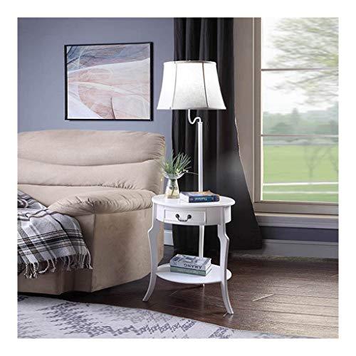 Staande lamp met salontafel Living Room Study LED leeslamp Met Opberglade Slaapkamer Nachtlampjes Verlichting Staande Lamp (Color : White, Size : 50cm*138cm)