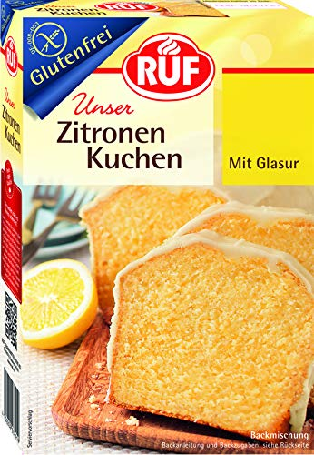 RUF Glutenfreier Zitronen Kuchen mit fruchtiger Zitronenglasur, 8er Pack (8 x 530 g)