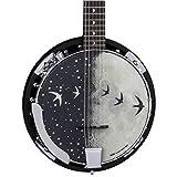 Luna Moonbird 6-String Acoustic/Electric Banjo, Satin Black