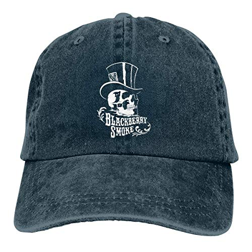 Yuanmeiju Denim Cap Black Berry Smoke Unisex Cool Adjustable Cotton Baseball Cap Dad Cap