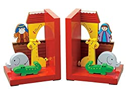 Pair of Wooden Noah's Ark Bookends