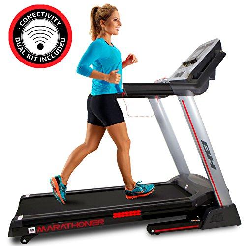 BH Fitness WG6458RF i.Marathoner - Tapis roulant - Elettrico - Pieghevole - Vel.Max. 21 Km/h - Inclinazione in 15 Livelli - 8 Anni di Garanzia