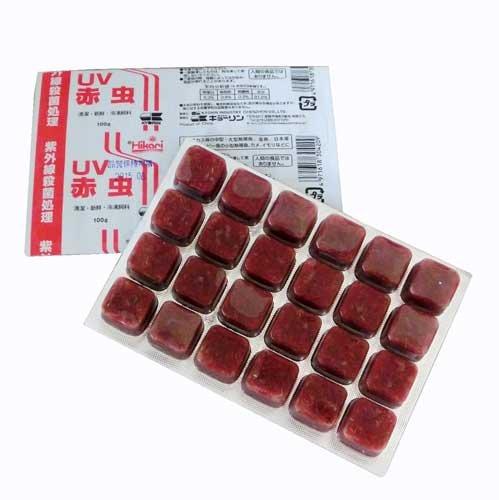 キョーリン UV赤虫 1枚 (冷凍)