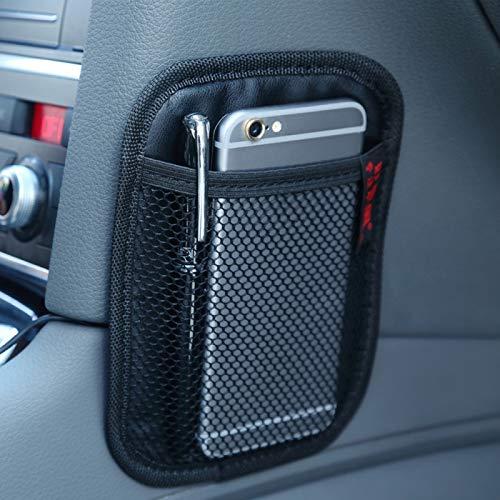 Caja de almacenamiento de automóviles Auto Car-Styling Pockets Adhesive Storage Net Soporte de teléfono Pegatinas de bolsillo, Bolsa de almacenamiento de asiento de automóvil (Tamaño: 16.9 * 12.4 * 0.