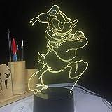 Tatapai Lampe de nuit 3D Lampes à LED Lampe de table Lampe de canard 7 couleurs Interaction Lampe...