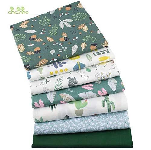Comius Sharp Tissus Coton Couture, Tissus en Coton pour Patchwork, Paquets de Tissus pour Patchwork et Patchwork de Tissu au Metre Patchwork Multicolore (7 Pièces 40 x 50 cm)