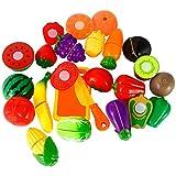 Twister.CK Juego de Alimentos Play para niños, 18 pz. Juego de imaginación Cortar Comida Cocina...