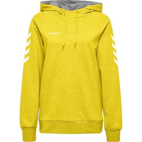 Hummel Damen Kapuzenpullover Go Cotton Hoodie Woman 203510 Sports Yellow XS