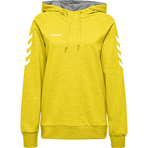 Hummel Damen Kapuzenpullover Go Cotton Hoodie Woman 203510 Sports Yellow L