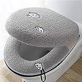 zeenca Cojín para asiento de inodoro, Asientos de inodoro adecuado para la mayoría de los inodoros de la familia O-UPolvo violeta + azul