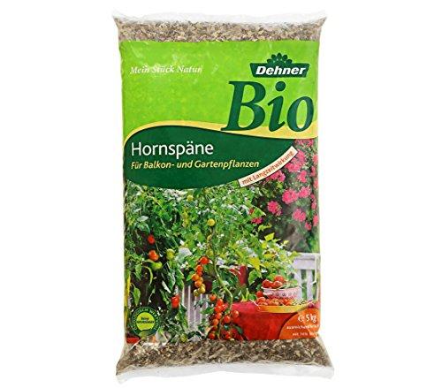 Dehner Bio Hornspäne mit Langzeitwirkung, für Balkon- und Gartenpflanzen, 5 kg, für ca. 50 qm