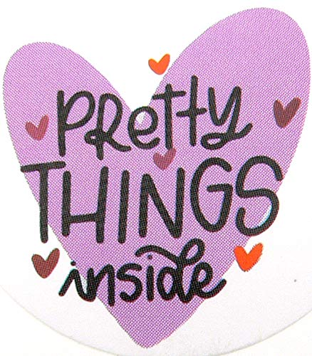 Pretty Things Inside - Etiquetas adhesivas (200 unidades, redondas, autoadhesivas)