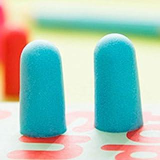ソフトフォーム耳栓テーパードトラベルスリープノイズ防止イヤープラグトラベルスリープ用ノイズリダクション(青)
