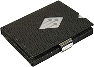 WALLET in Mosaic - Premium RFID Blocking Trifold Leather Wallet with Stainless Steel Locking Clip