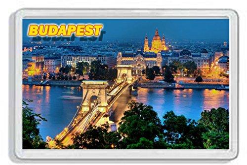 AWS Magnete in PVC Rigido Budapest Ungheria Souvenir Danubio Gadget calamita Fridge Magnet Magnete da frigo in plastica Dura con Immagine Fotografica Città Hungary