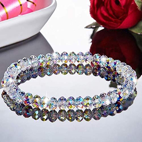 dfhdrtj Pragmatic 1Pc Neu Damen Bunt Kristall Perlen Armbänder & Armreifen Mädchen Vintage Glänzend Seil Gliederkette Armband - 03