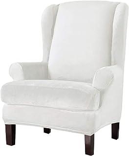 Beige NOPEXTO Samt Ohrensessel Bezug,Sesselbezug Ohrensessel Husse Ohrensessel Bezug Stretch Sesselhussen Sessel Bezug Husse
