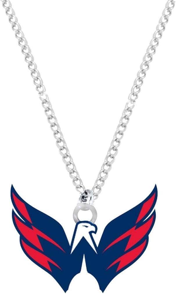 Aminco NHL Washington Capitals Team Multic Directly managed store Industry No. 1 Pendant Necklace Logo