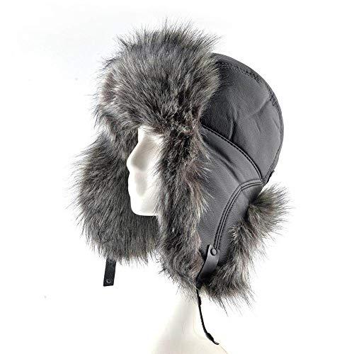Sombrero De Trampero Unisex Invierno,Sombreros De Invierno De Los Hombres Negros Rusos...