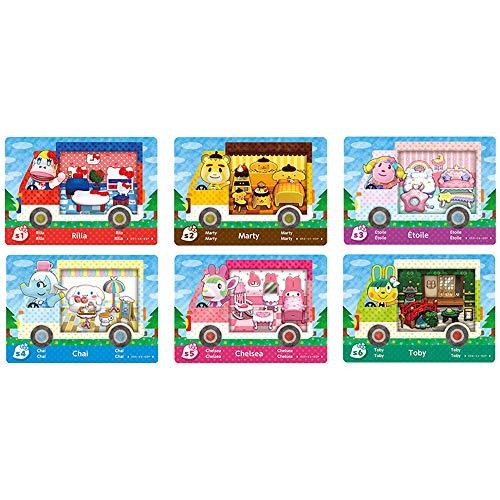 Coltum Lot de 6cartes de jeu NFC, pour animal Crossing New Horizons Sanrio et Switch/Switch Lite/New 3DS