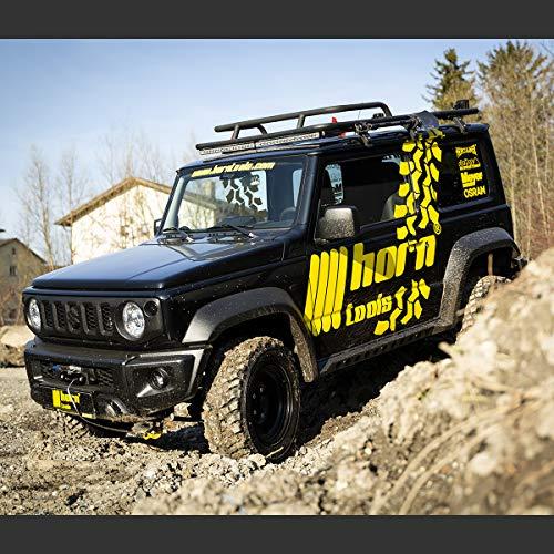 horntools Dachträger NAVIS Suzuki Jimny GJ flach Alu schwarz optional mit Reling by Offroad 4x4 Dachzelt