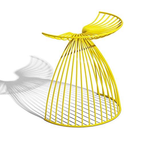 Tabourets de Bar en Fer Forgé, Tabourets Triangulaires Géométriques, Chaises de Salon Créatives (Color : Yellow)