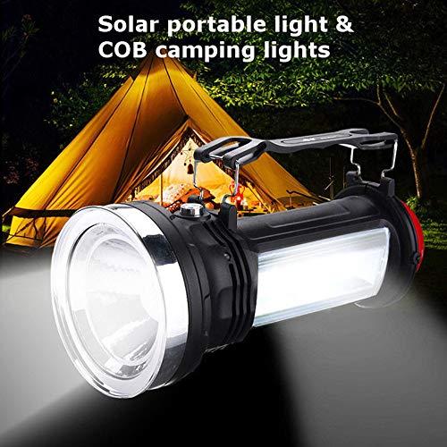 KAR Portable Solar Power LED Camping en Plein Air Lampe De Poche d'urgence Lanterne Lampe De Travail pour L'éclairage d'urgence