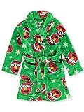 Sesame Street Little Boys' Toddler Elmo Snow Time Plush Robe, Green, 4T
