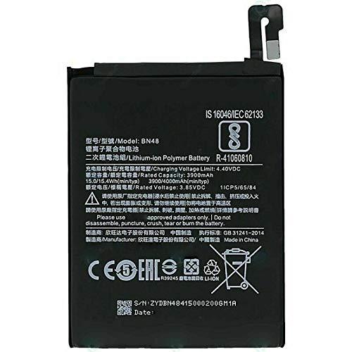 Ellenne Batería compatible con Xiaomi BN48 para Redmi Note 6 Pro, alta capacidad, 4000 mAh, con kit de desmontaje incluido