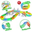 ZiChuangWen 144-Pieces Flexible Race Tracks