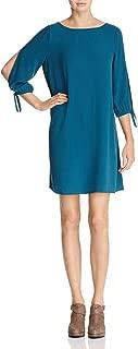 Eileen Fisher Womens Silk Tie Sleeve Cocktail Dress