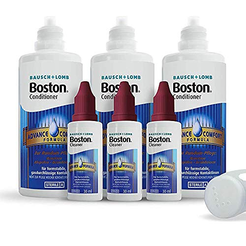 Bausch & Lomb Boston Advance Multipack, 3 x 30 ml Reiniger plus 3 x 120 ml Aufbewahrung, inclusive Behälter - 4