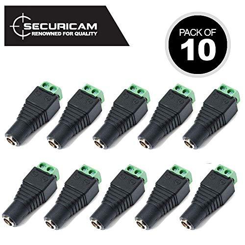 F-Buchse /> BNC Stecker 10x SAT TV CCTV Camera Kabel Adapter Verbinder Vernickelt