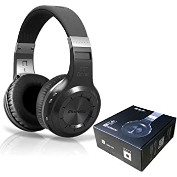 Bluedio V5.0 Bluetooth Headphones Over Ear, Wireless Bluetooth On-Ear Stereo Earphones Noise Cancelling, Soft Memory-Protein Earmuffs, w/Mic