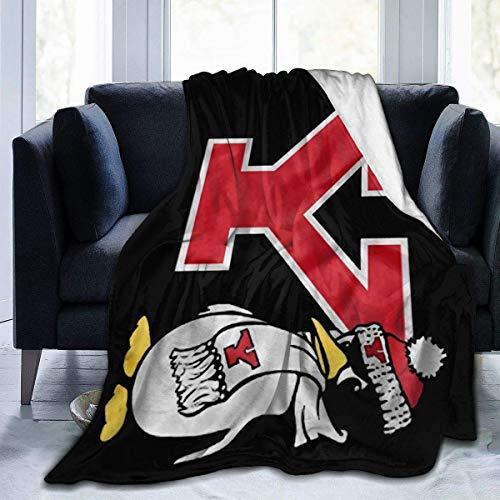 Hkdfjg Youngstown State University Flannel Blanket Warm Throw Blanket 50x40 Large Soft Blanket Fashion Black