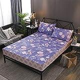 haiba Protector de colchón impermeable, ajustable, transpirable, a prueba de manchas, hipoalergénico y no ruidoso, fácil de ajustar, 160 x 200 cm